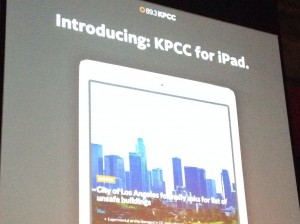 KPCC iPad Launch Party
